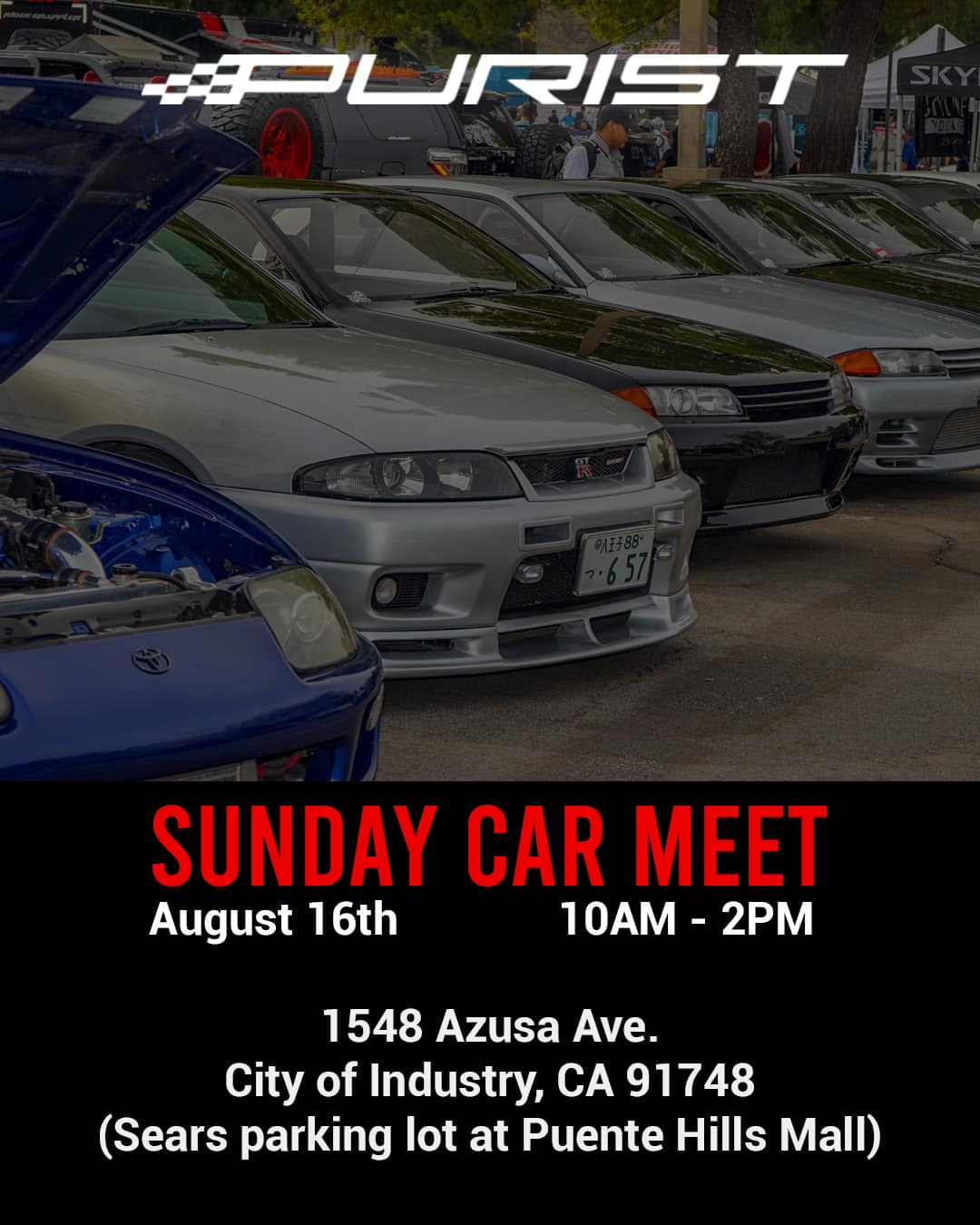 Purist Car Meet Back to School Drive August 2020