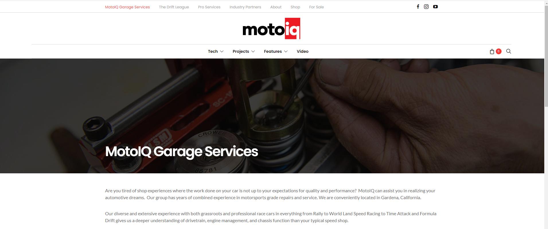 MotoIQ Garage services