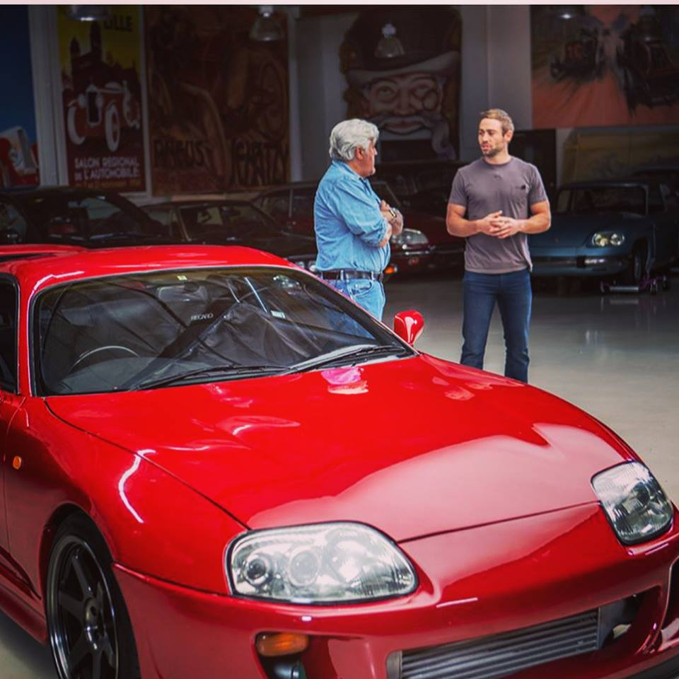 Jay Leno and Cody Walker with a JDM Supra imported legally