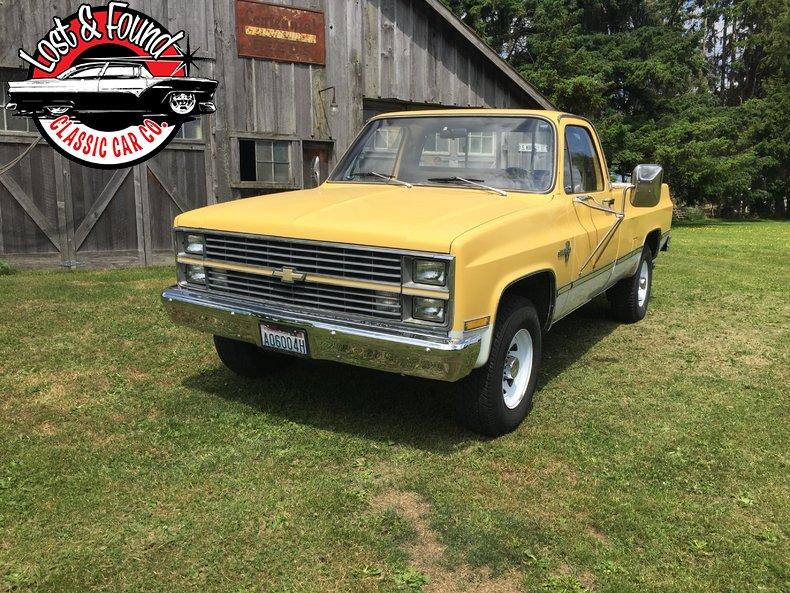 1983 Chevrolet 1 Ton Pickup 68700 Miles Yellow White
