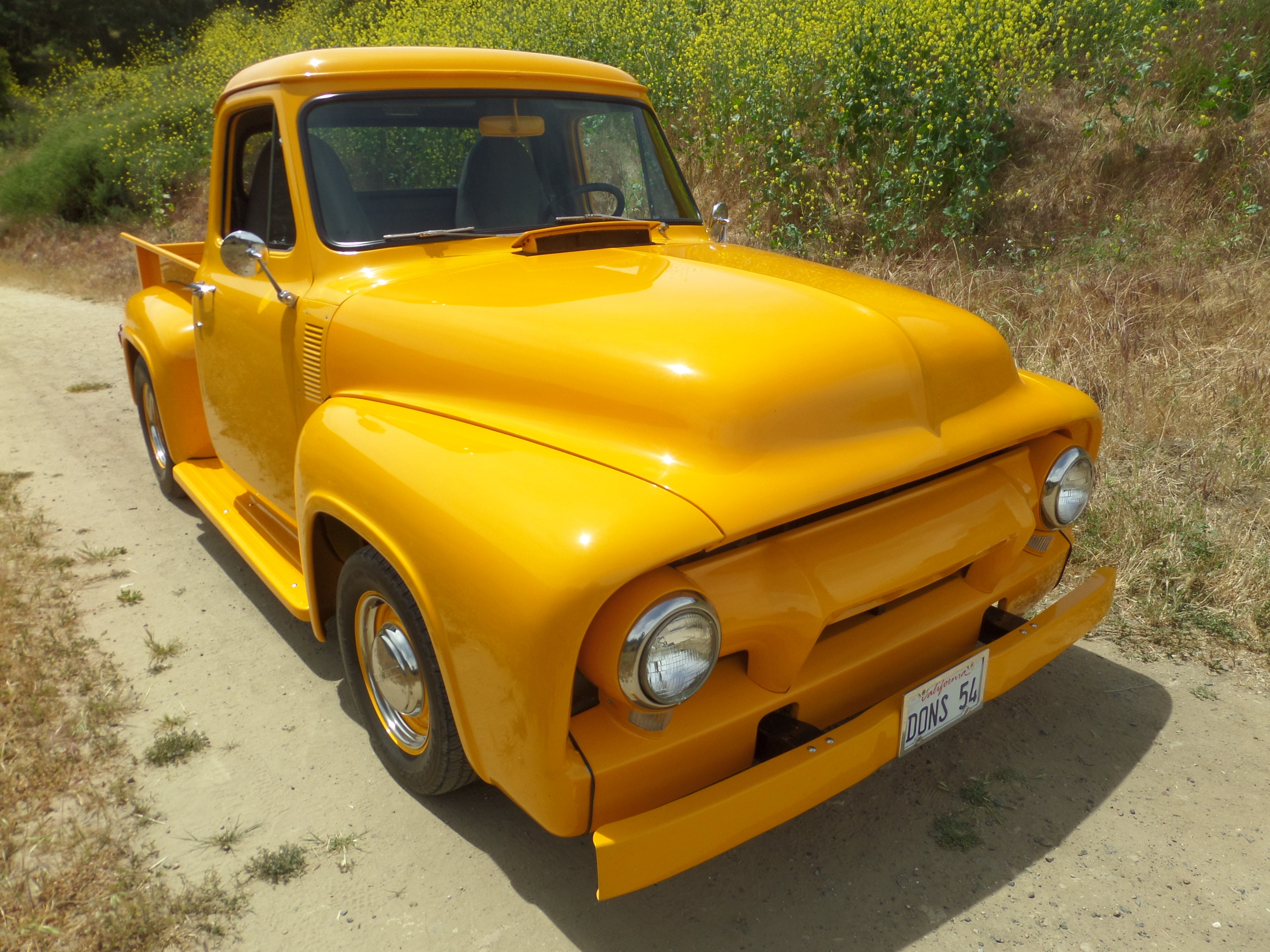 1954 Ford F100 Laguna Classic Cars Automotive Art Long Bed Quality Steel Truck With Power And All The Creature Comforts