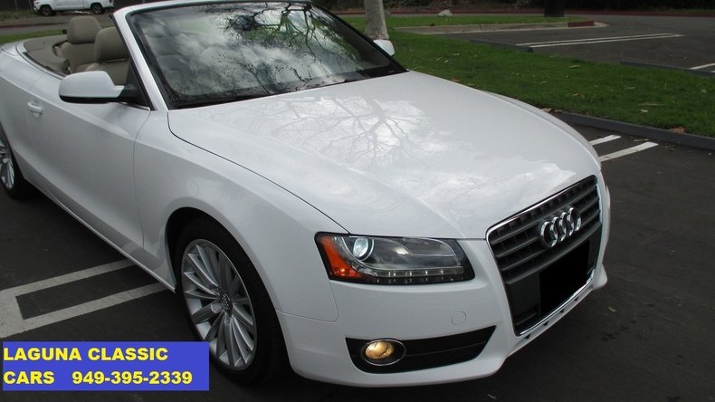 2011 audi a5 convertible for sale 78429 mcg. Black Bedroom Furniture Sets. Home Design Ideas