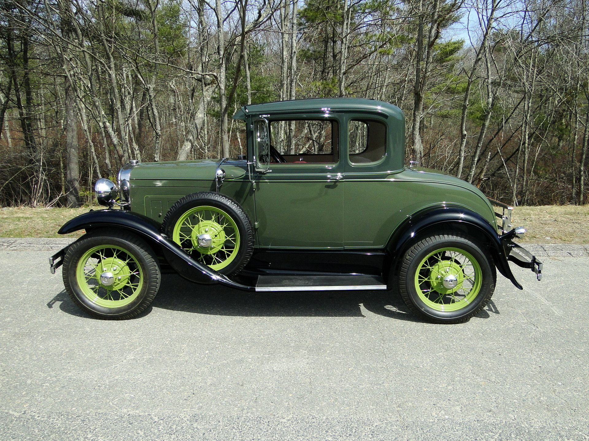 1931 ford model a deluxe rumble seat coupe for sale 85125. Black Bedroom Furniture Sets. Home Design Ideas