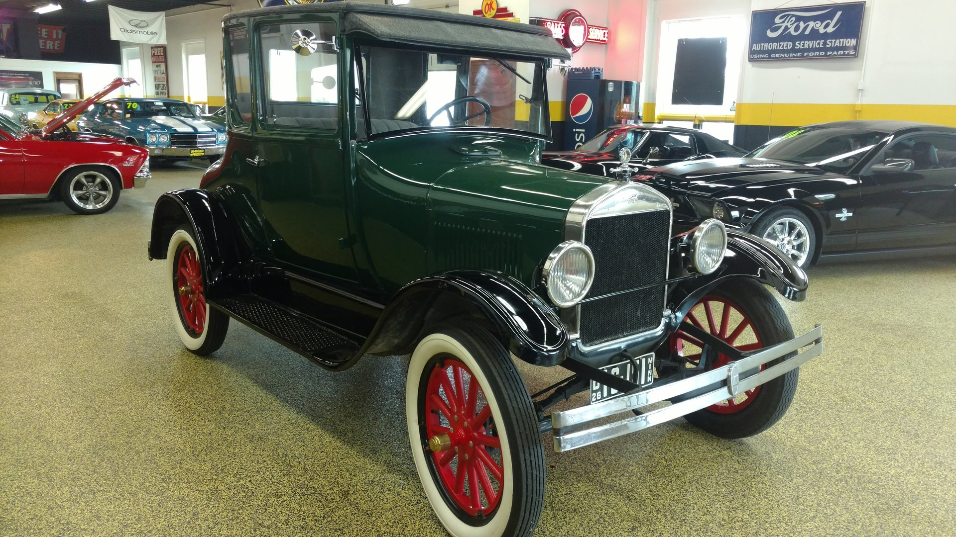 1926 ford model t coupe for sale 63199 mcg. Black Bedroom Furniture Sets. Home Design Ideas