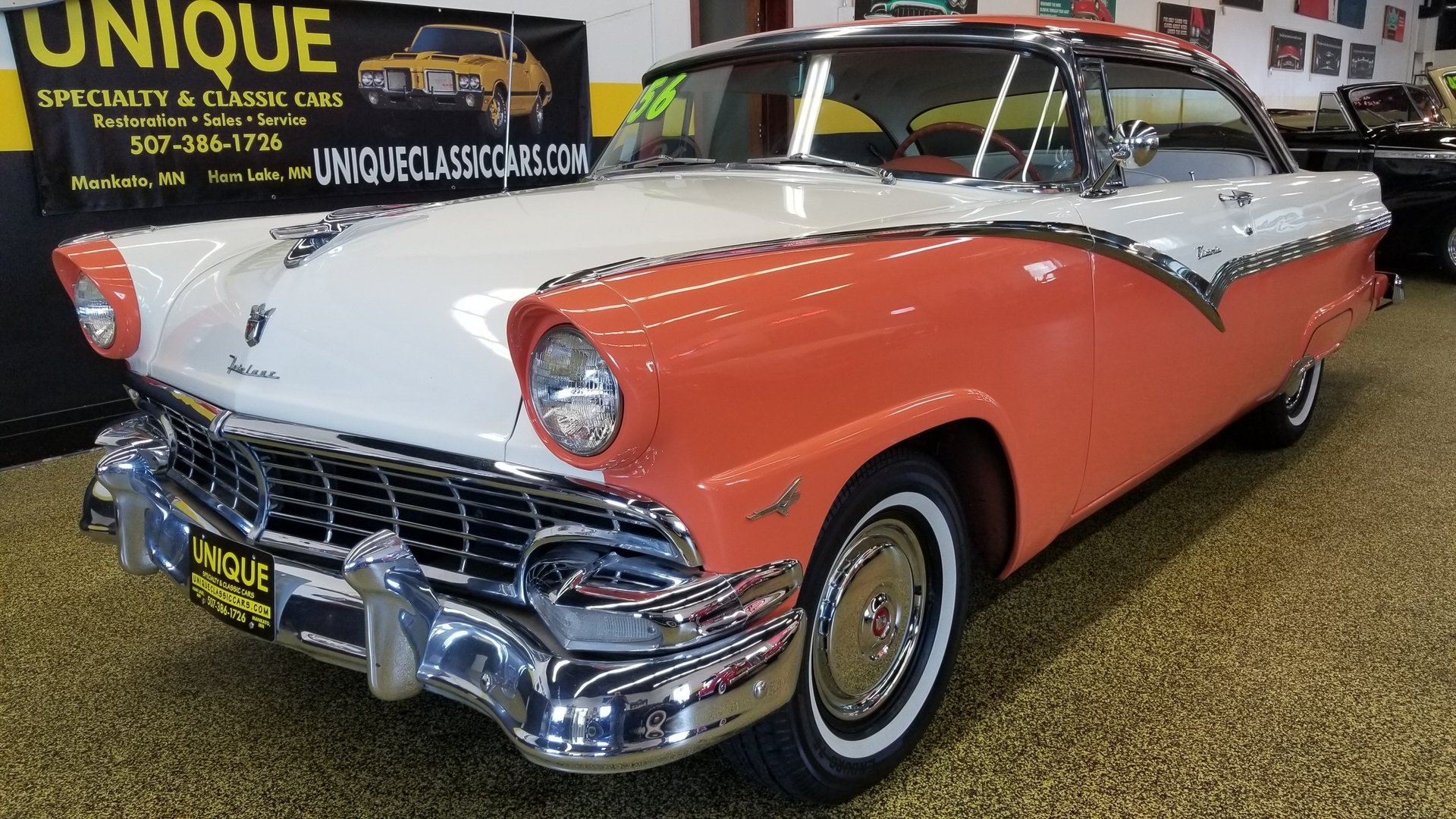 1956 ford fairlane victoria 2dr ht for sale 93053 mcg. Black Bedroom Furniture Sets. Home Design Ideas