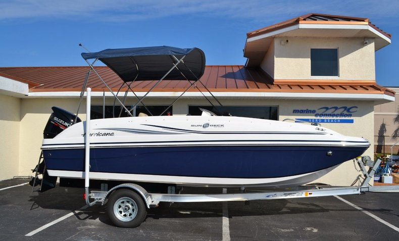 New 2015 Hurricane SunDeck Sport SS 188 OB boat for sale in Vero Beach, FL