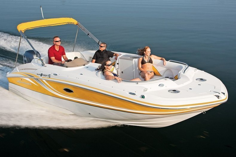 New 2013 Hurricane SunDeck Sport SS 220 OB boat for sale in West Palm Beach, FL