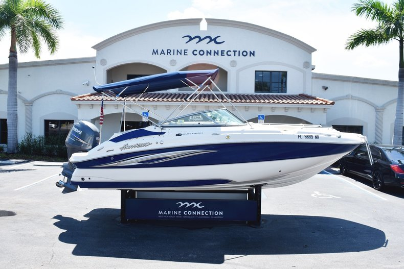 Used 2008 Hurricane SunDeck 220 OB boat for sale in West Palm Beach, FL