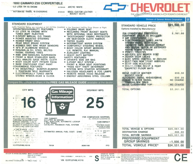 5218667d314e5 low res 1992 chevrolet camaro