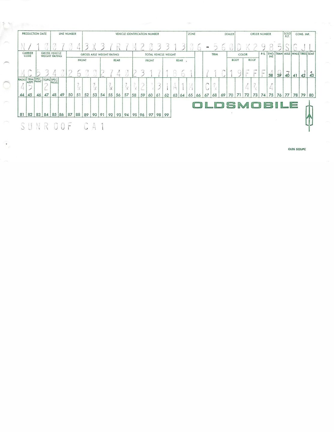 82 Oldsmobile 98 Wiring Diagram