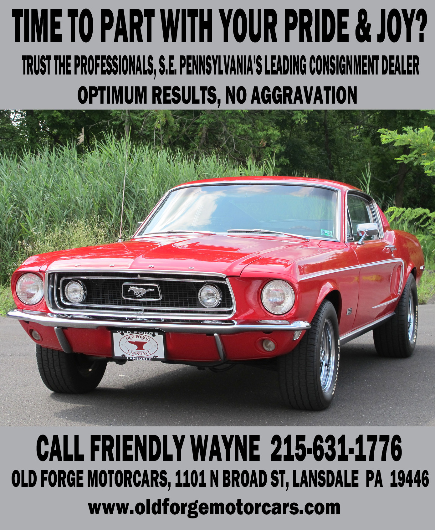Consignment | OLD FORGE MOTORCARS INC