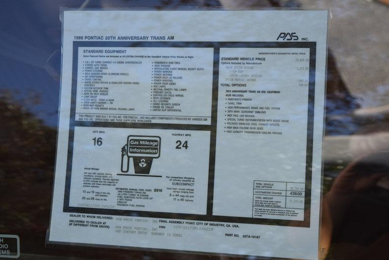 For Sale 1989 Pontiac Trans Am