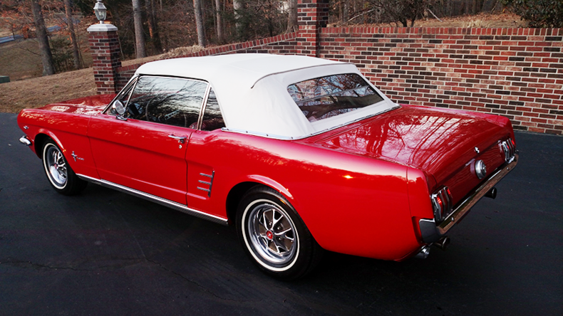 1966 ford mustang convertible for sale 77125 mcg. Black Bedroom Furniture Sets. Home Design Ideas