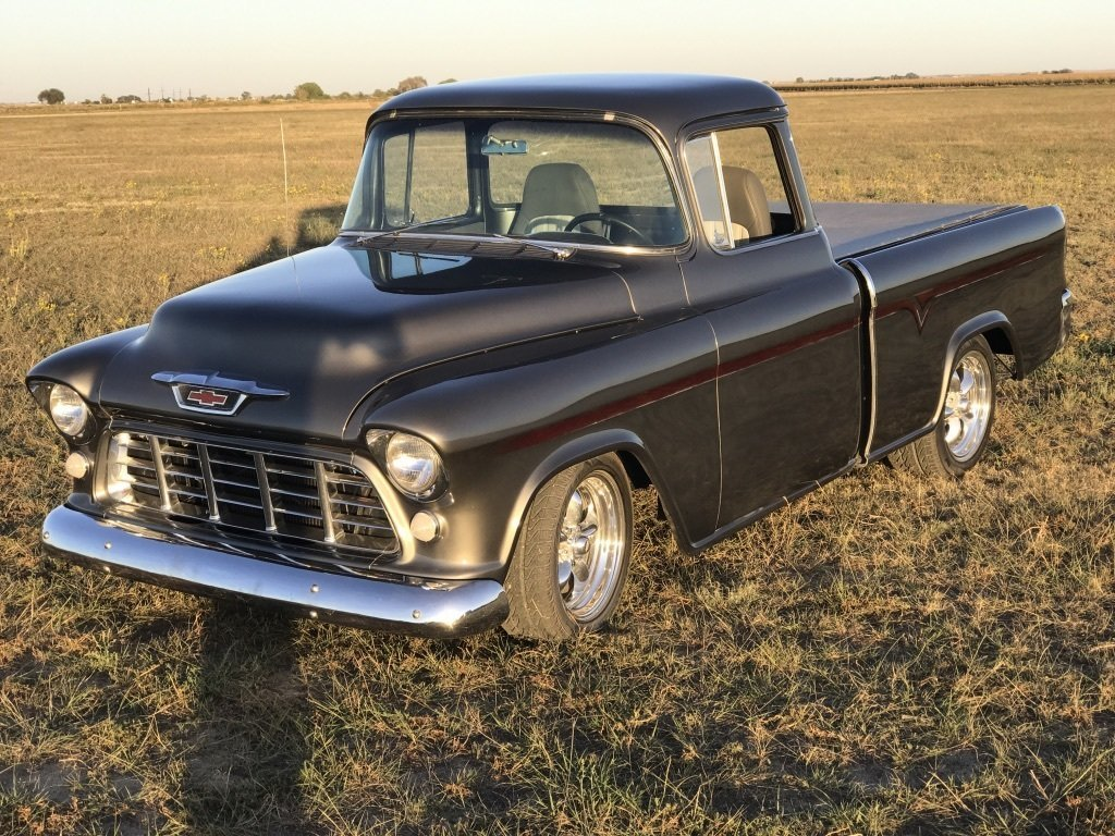 1955 Chevrolet Cameo Restomod Premier Auction Chevy Truck Back Zoom Icon See Additional Photos