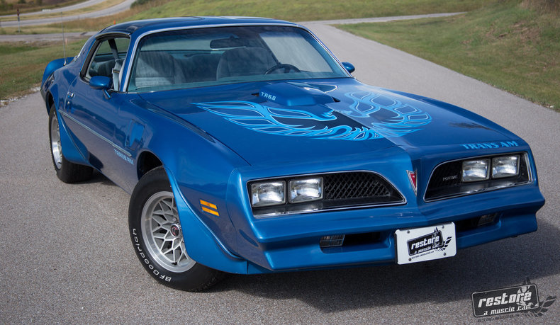 1978 Pontiac Trans Am : 1978 Trans AM, W72, 4 speed, WS6, Martinique Blue, Fisher T-Tops, Rust-free
