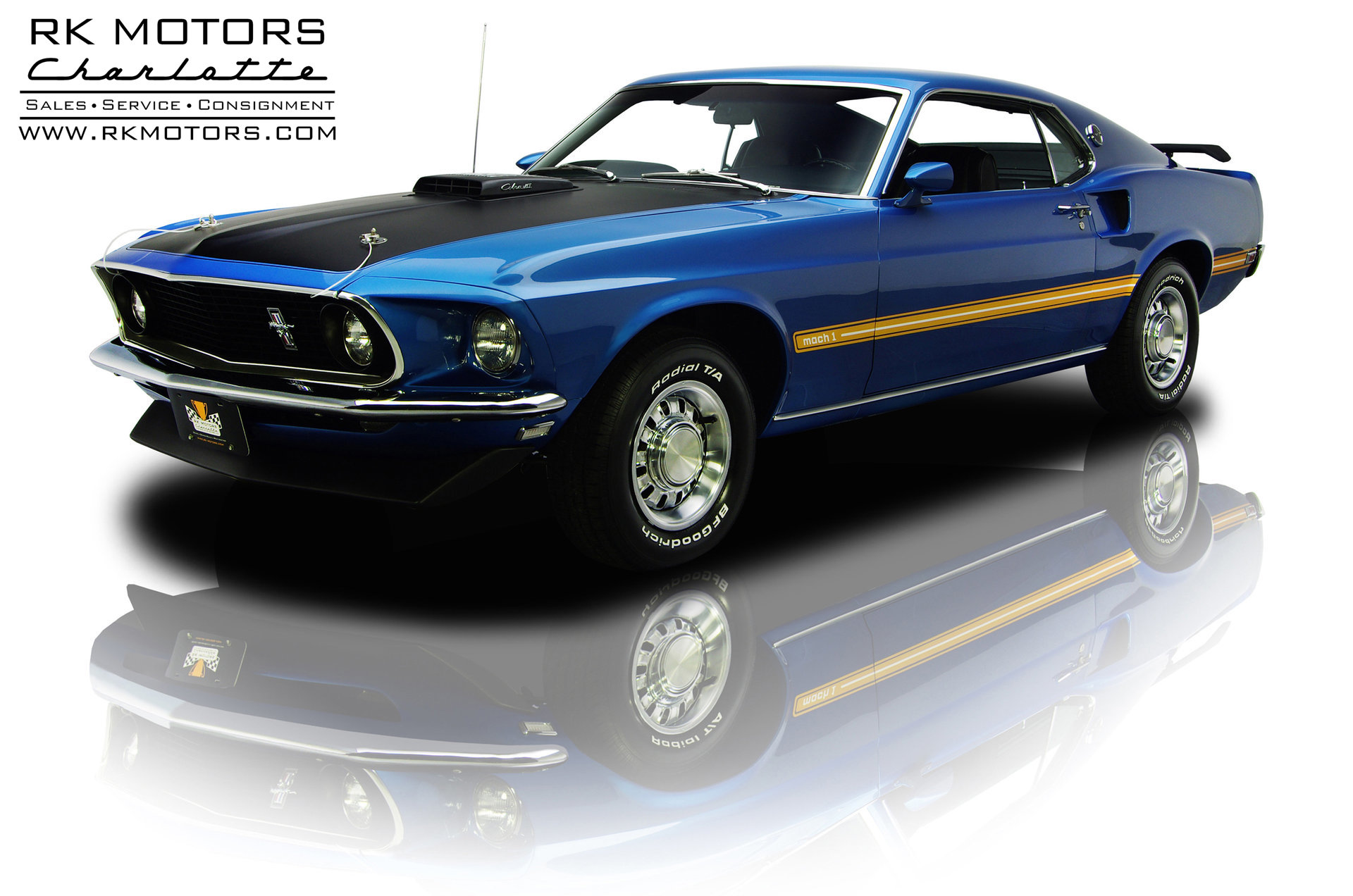 132628 1969 Ford Mustang Rk Motors Classic And Performance Cars Shelby Mach 1 For Sale