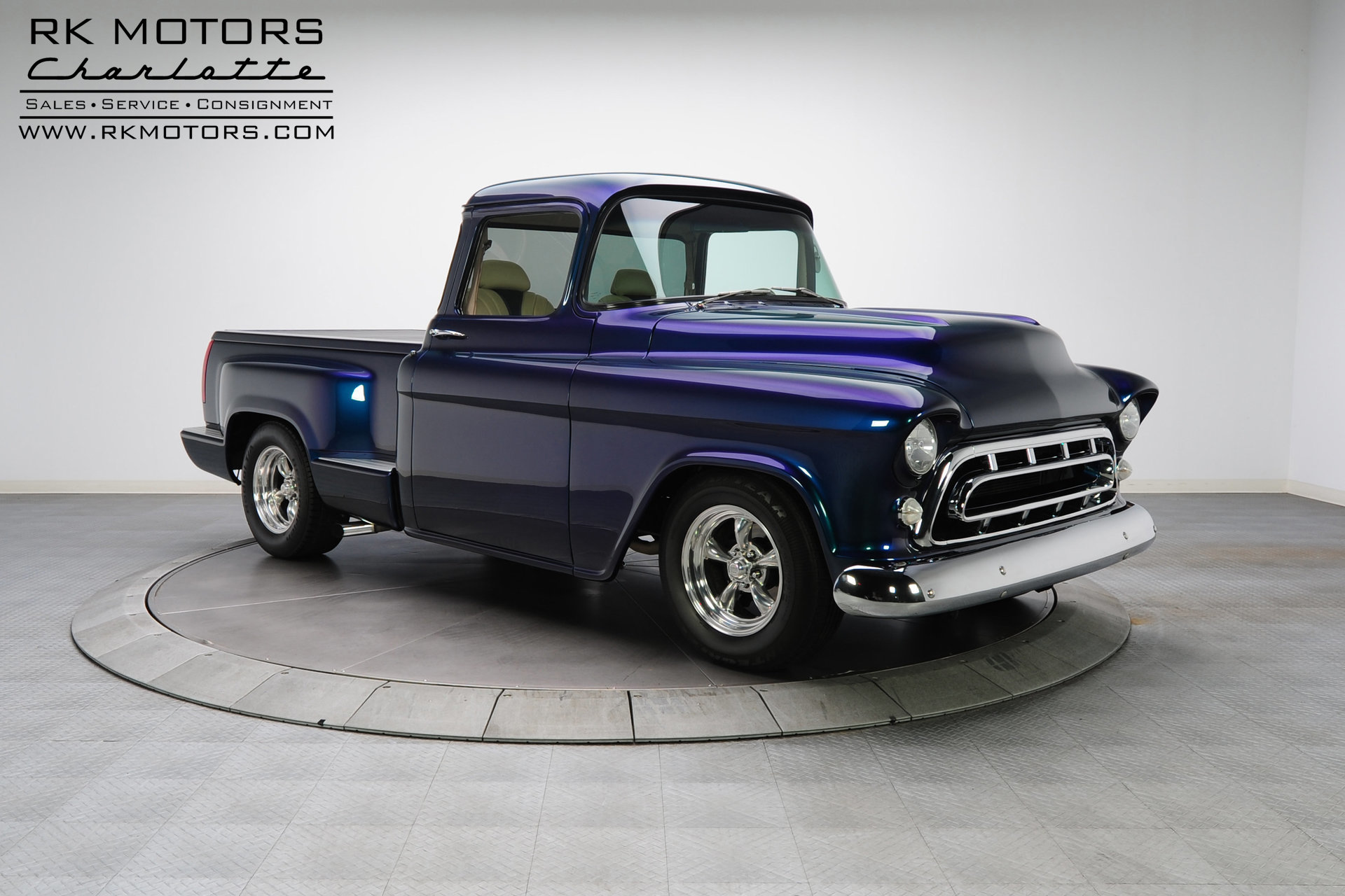 132713 1957 Chevrolet Stepside Rk Motors Classic Cars For Sale Chevy Pickup Truck