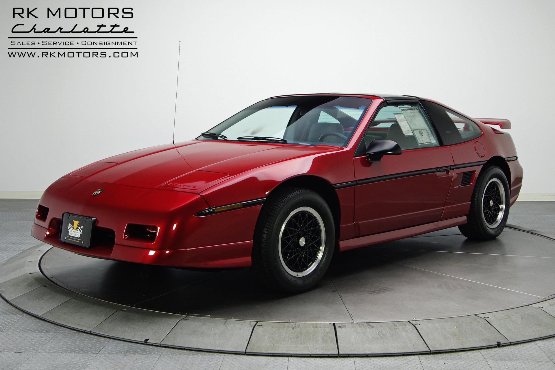 132778 1988 Pontiac Fiero Rk Motors Classic Cars For Sale Console