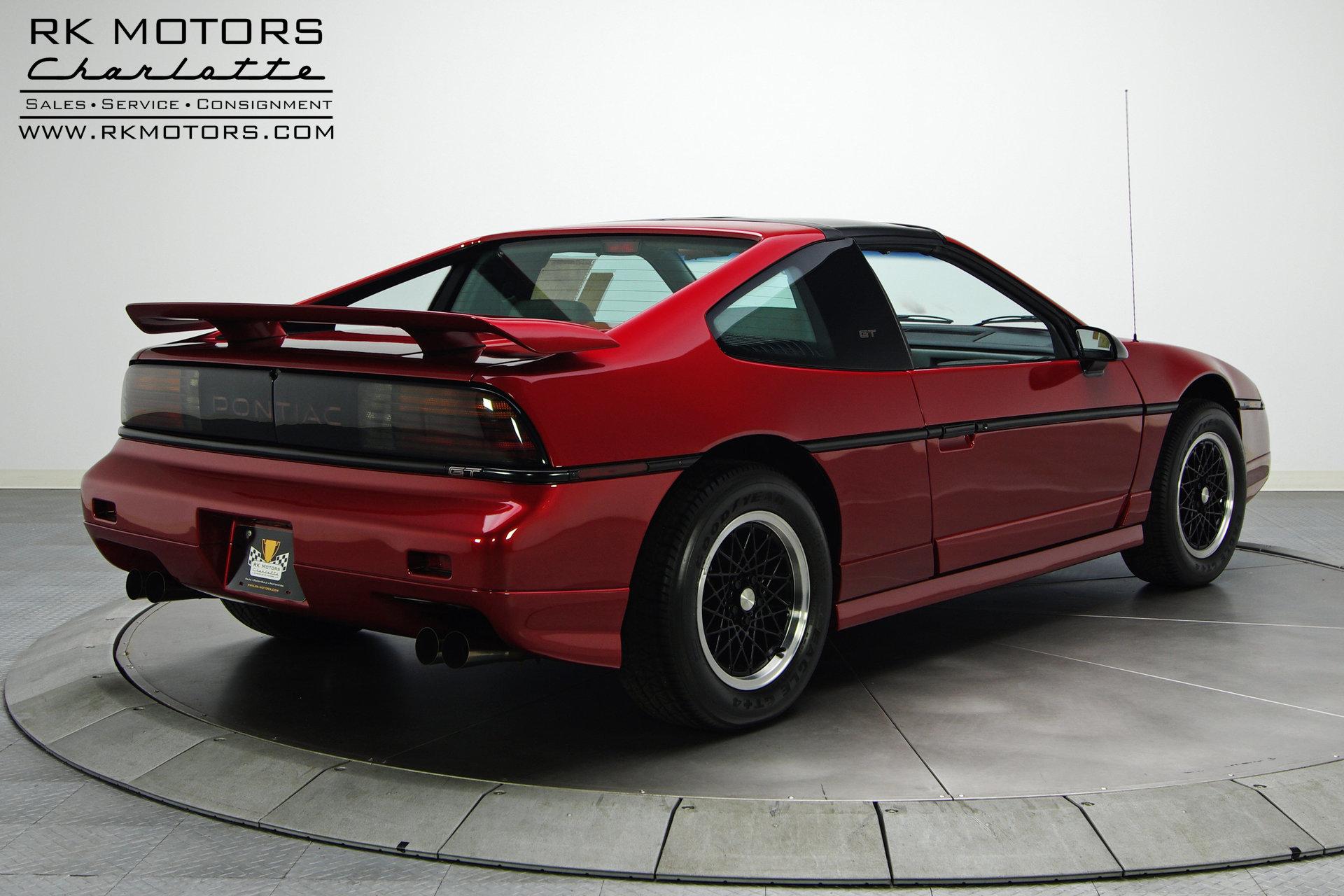 132778 1988 Pontiac Fiero Rk Motors Classic Cars For Sale Drivetrain