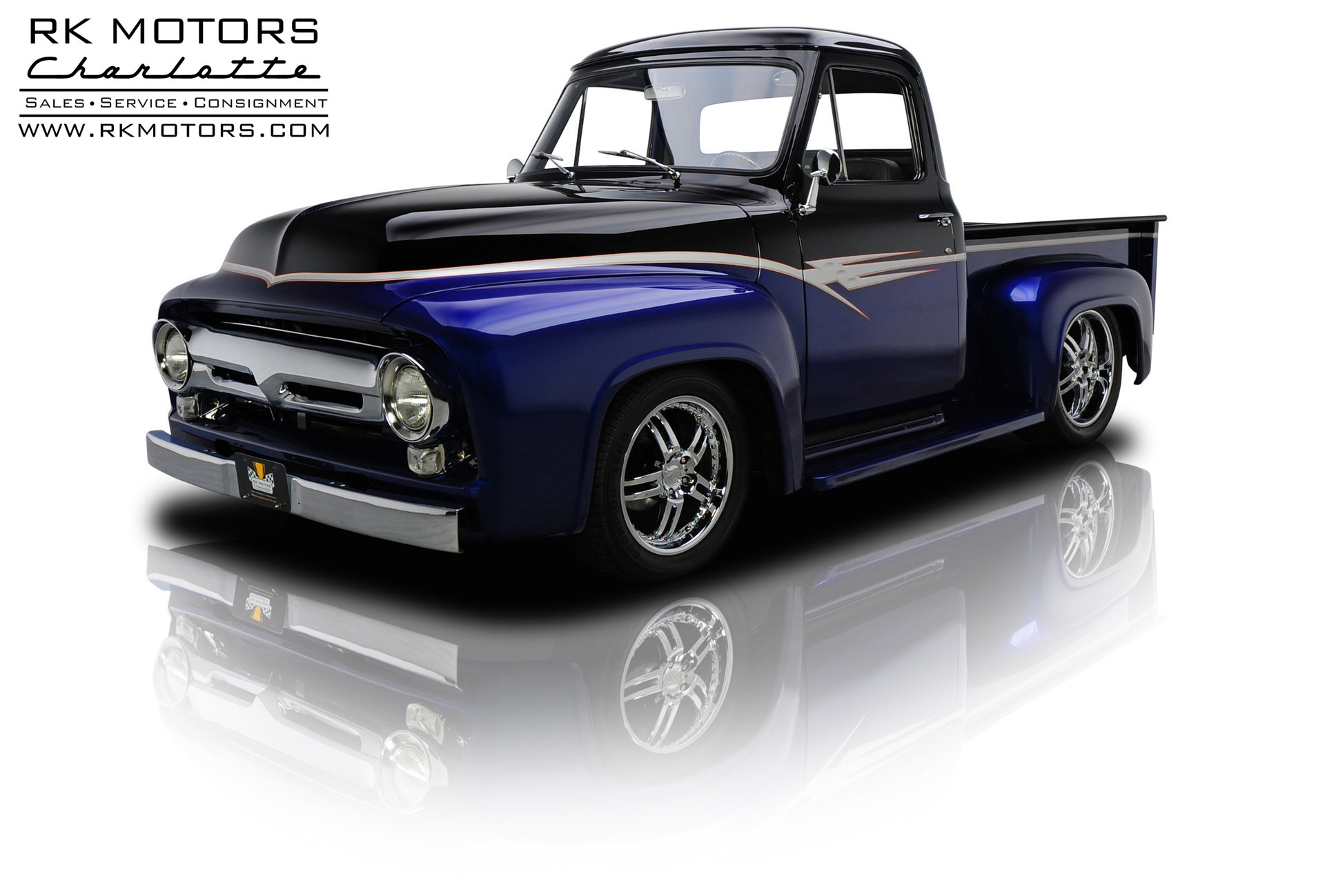 132949 1955 Ford F100 Rk Motors Classic Cars For Sale Interior