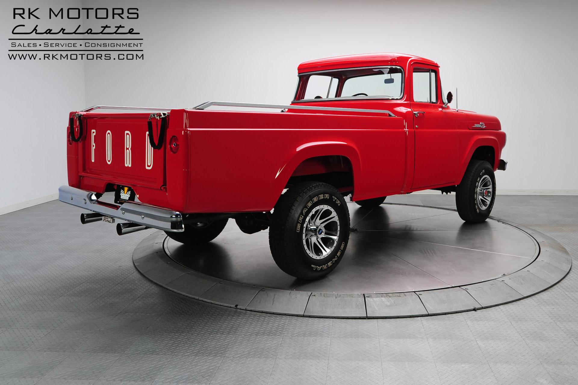 133083 1959 Ford F100 Rk Motors Classic Cars For Sale 1949 4x4 Pickup Trucks