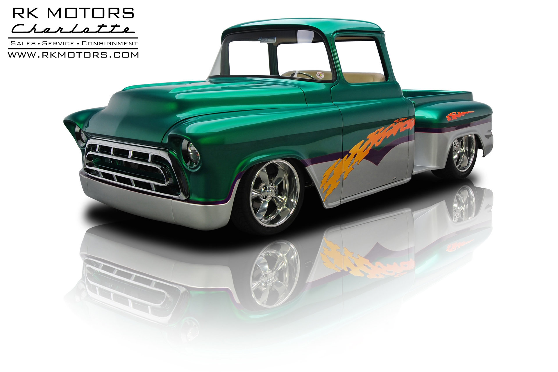 133099 1957 Chevrolet 1 2 Ton Pickup Rk Motors Classic Cars For Sale Chevy Truck Paint Colors