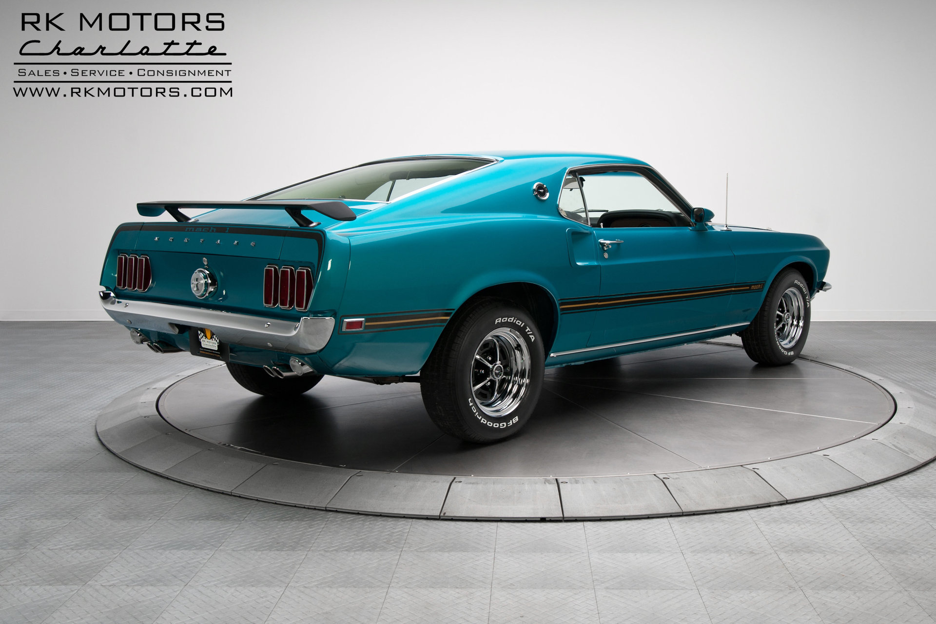 134184 1969 Ford Mustang Rk Motors Classic And Performance Cars Mach 1 Gulfstream Aqua For Sale