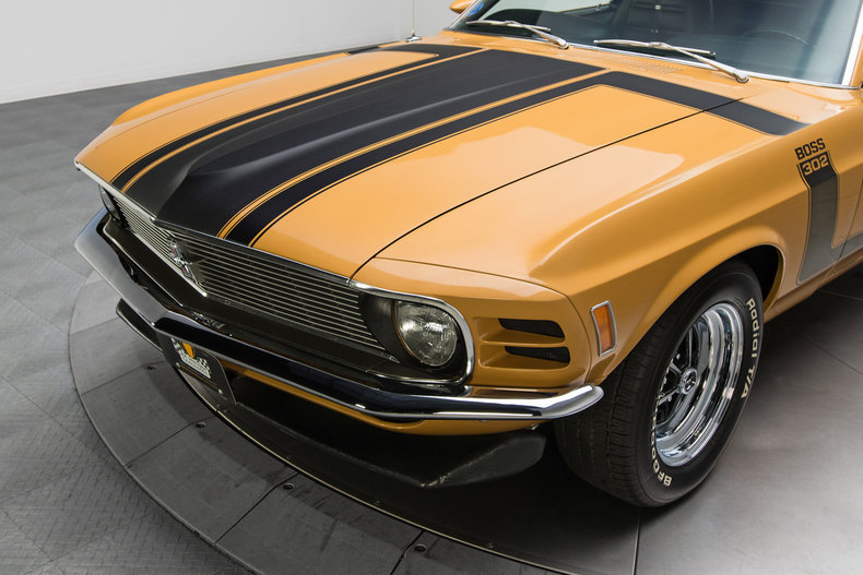 1970 Ford Mustang Boss 302: 1970 Ford Mustang Boss 302 11807 Miles Bright Gold Metallic Coupe 302 V8 4 Speed
