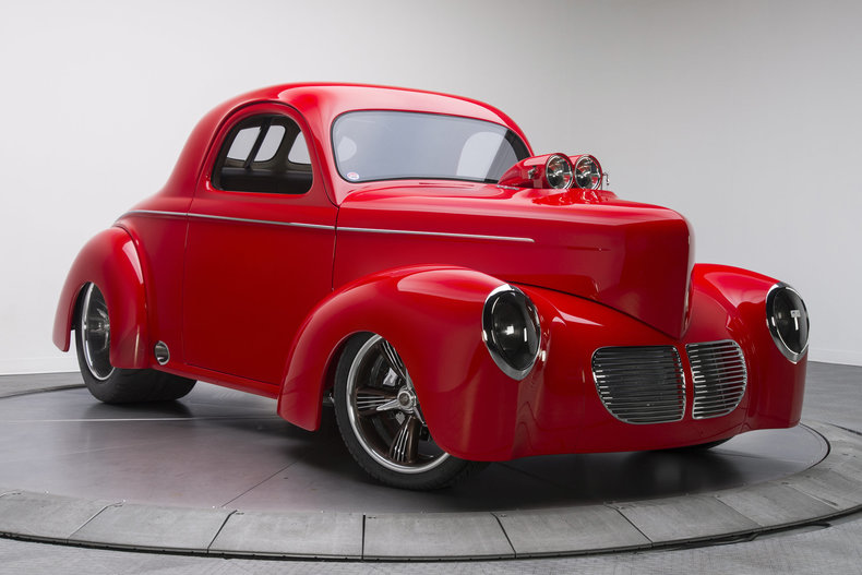 1940 Willys Coupe --: 1940 Willys Coupe  1 Torch Red Coupe 540 V8 3 Speed Automatic