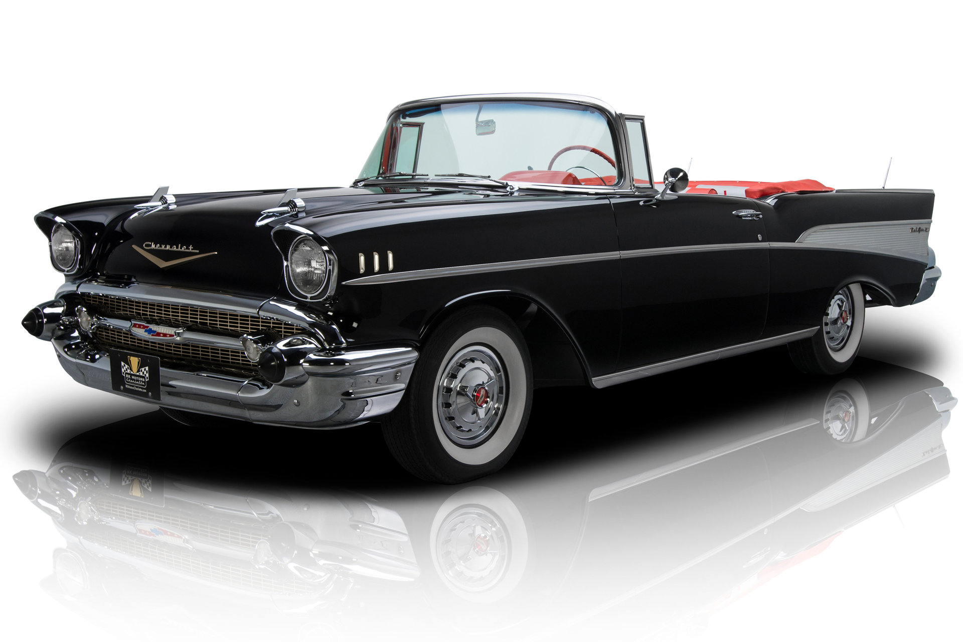 135736 1957 Chevrolet Bel Air Rk Motors Classic Cars For Sale Chevy Front Suspension Body Off Restored Convertible 283 220 Hp V8 Powerglide Ps Fender Skirts