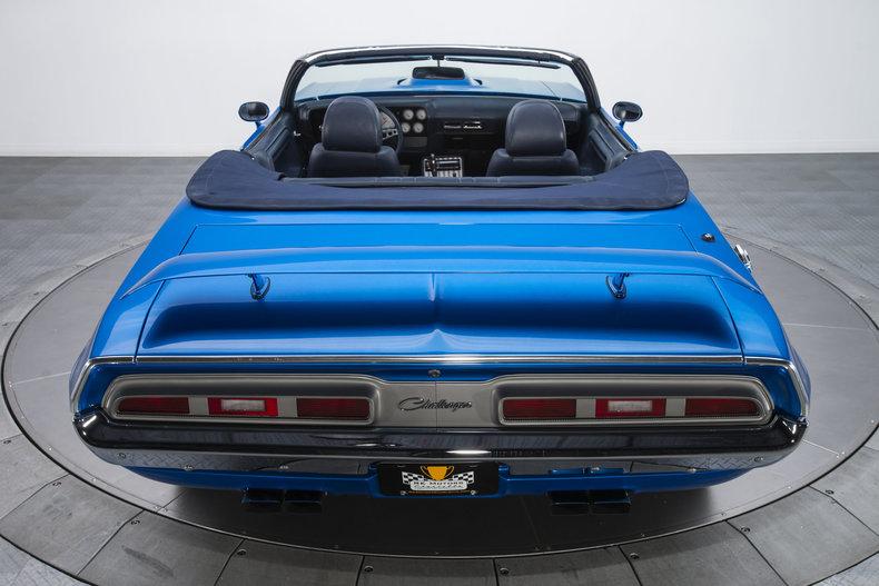 1971 Dodge Challenger R/T: 1971 Dodge Challenger R/T 1353 Miles Metallic Blue Convertible 6.1 Liter Hemi V8