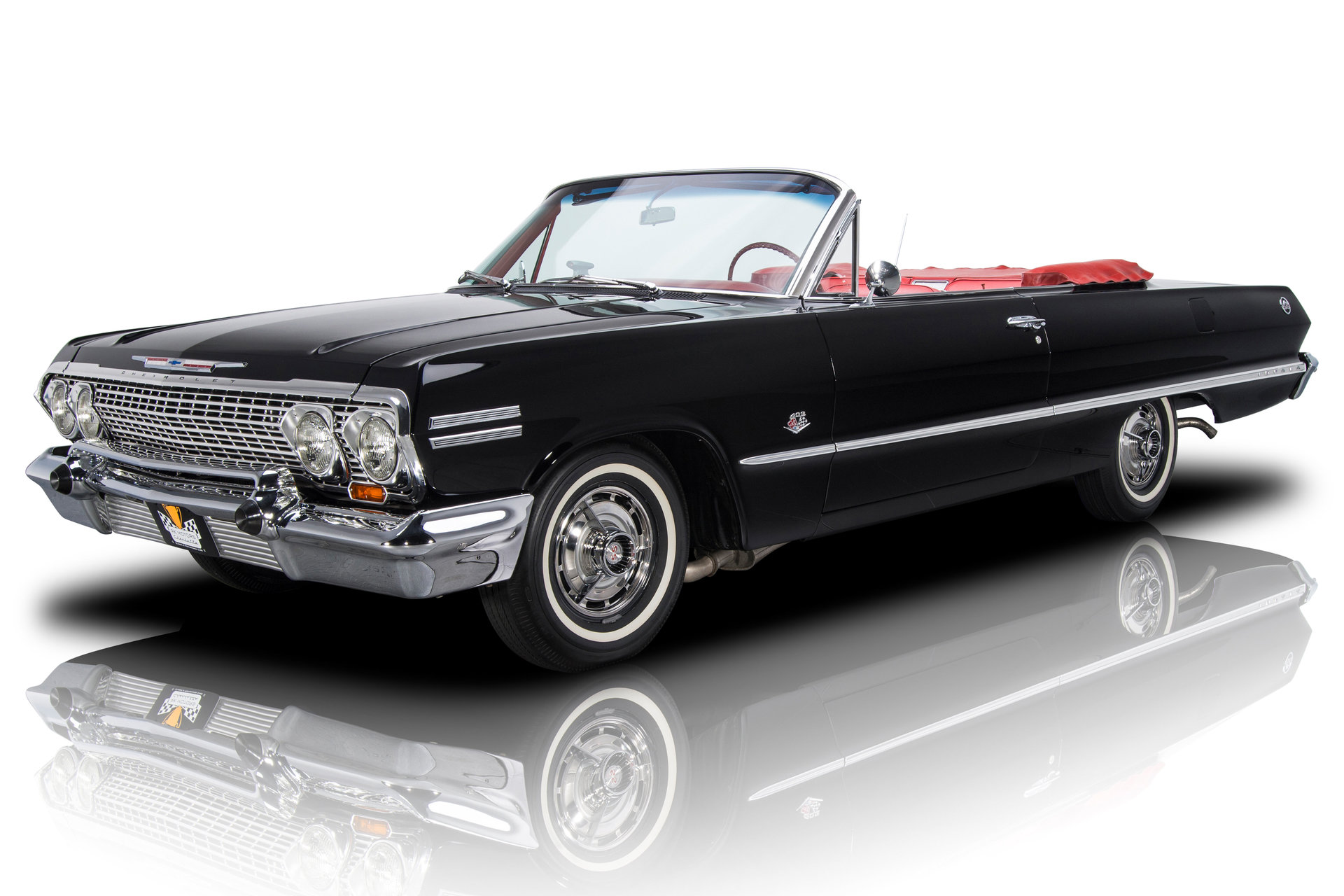 Ground Up Restored Factory Black / Red Impala SS Conv 409 Dual Quad 4spd