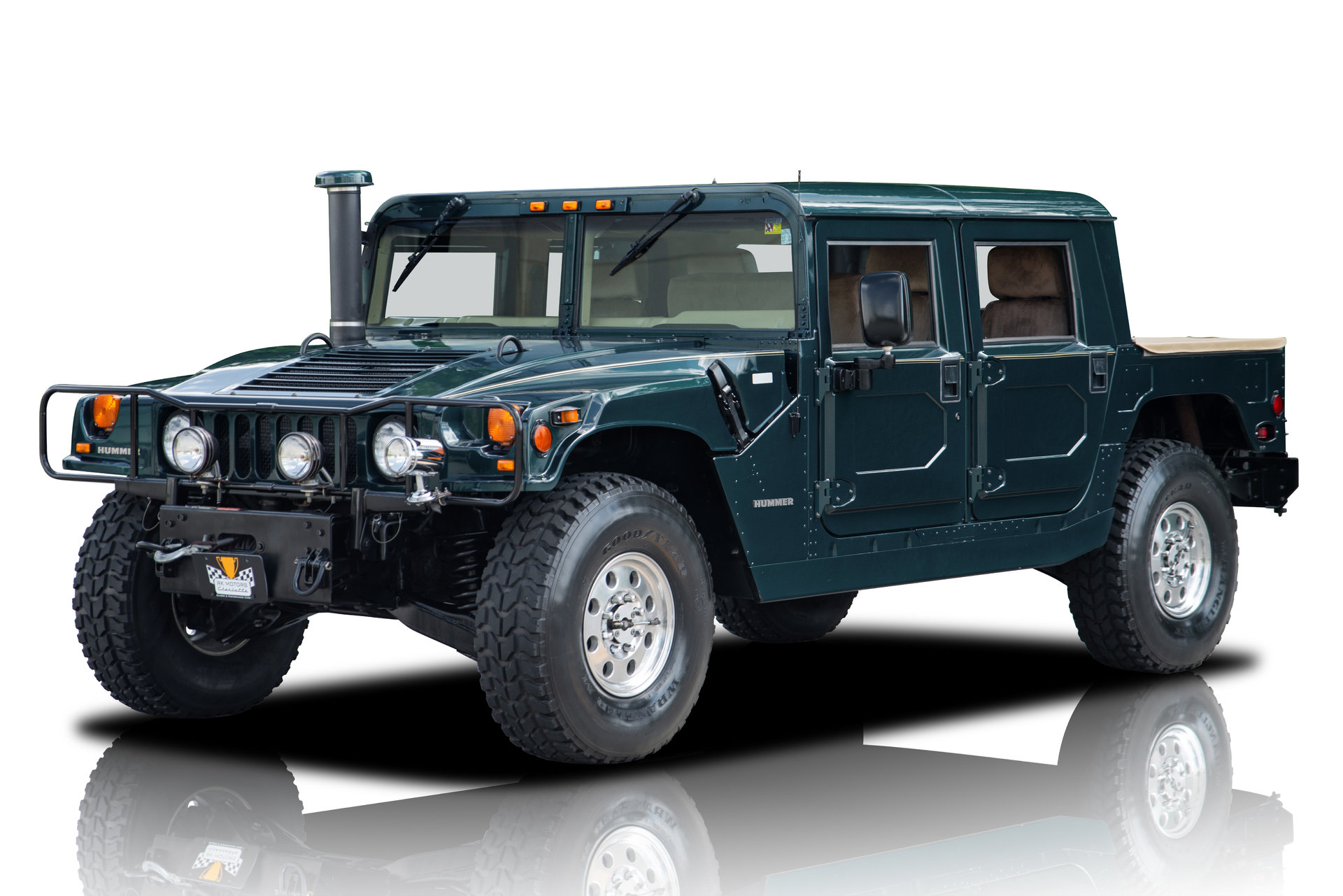 24,847 Mile Hummer H1 6.5L Turbo Diesel Automatic A/C Power Winch