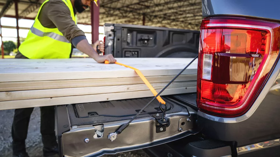There are now tie-downs built right into the tailgate for securing longer loads. Ford also says they double as a bottle opener. Ford