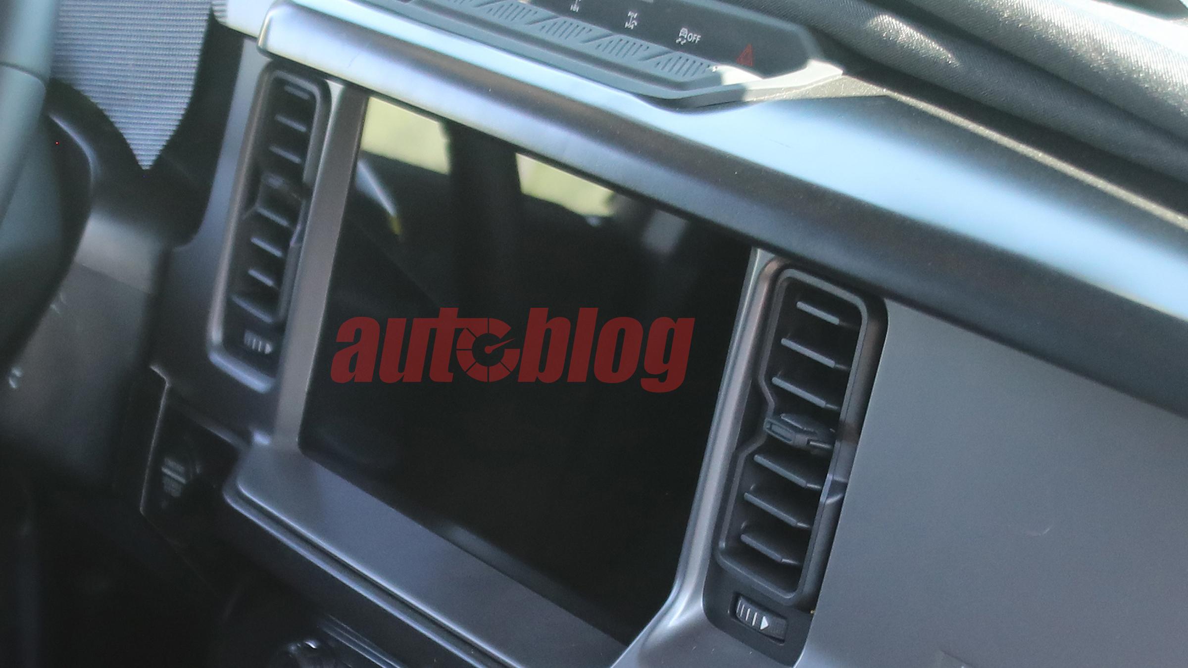 2021 Ford Bronco interior spy photo - Image Credit: Brian Williams