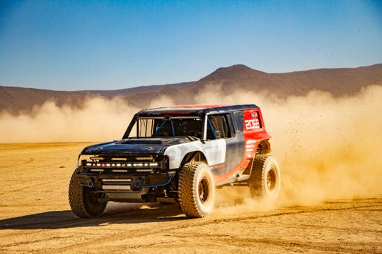 Ford's Bronco R race prototype debuts in the desert to celebrate 50th anniversary of Rod Hall's historic Baja 1000 win, an overall victory in a 4x4 that's never been duplicated in 50 years. (Photo: Ford)