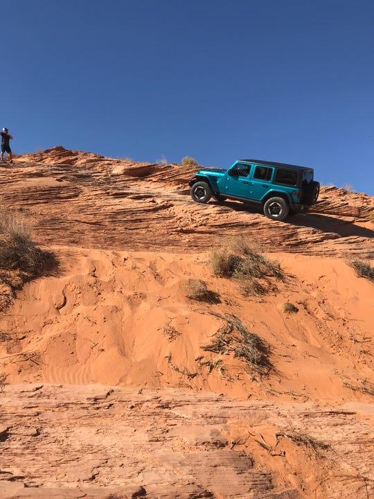 2020 Jeep Wrangler Ecodiesel rock-climbing in Utah. (Photo: Jim Morrison)