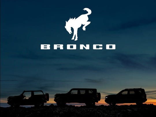 Ford Bronco plans to battle Jeep Wrangler in the off-road category of rugged vehicles. This image provides silhouette images of the 2-door and 4-door Bronco and Bronco Sport. (Photo: Ford Motor Co.)