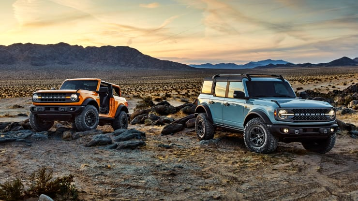 The 2021 Bronco two- and four-door models are expected to arrive in dealerships spring 2021. Ford