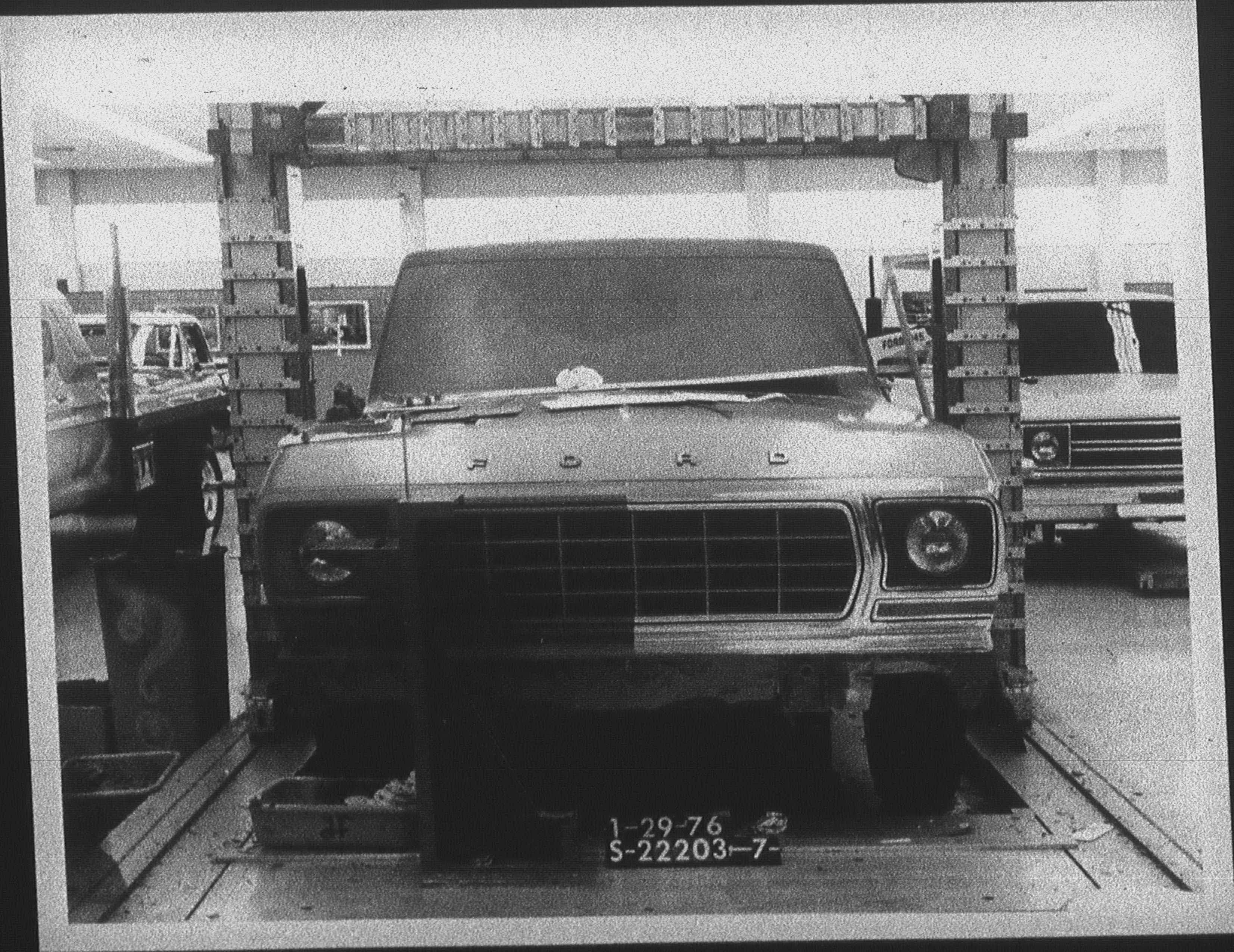 January 1976 Bronco clay modeling.