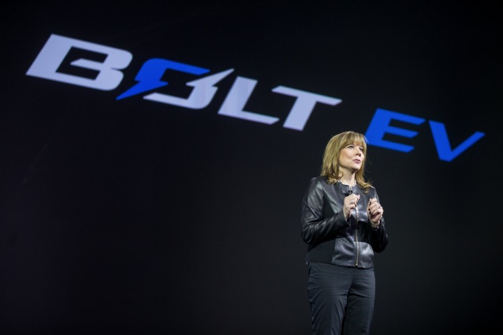 GM CEO Mary Barra at the 2017 Chevrolet Bolt EV debut