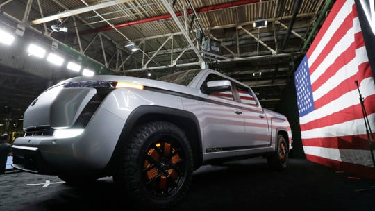 The electric Endurance pick-up truck at Lordstown Motors Corporation is shown on June 25, 2020, in Lordstown, Ohio. (Photo: Tony Dejak, Associated Press)