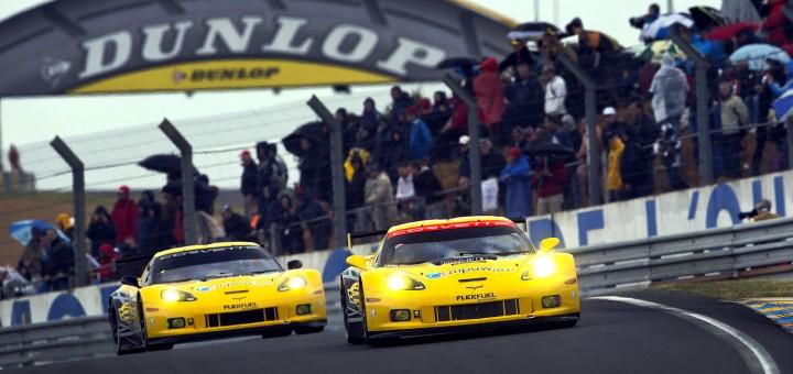 Corvette C6.R in traditional Velocity Yellow paint scheme