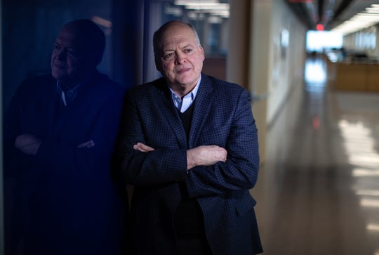 Ford Motor Company CEO Jim Hackett poses for a photo in the Henry Ford II World Center in Dearborn on Wednesday, February 20, 2019. (Photo: Ryan Garza)