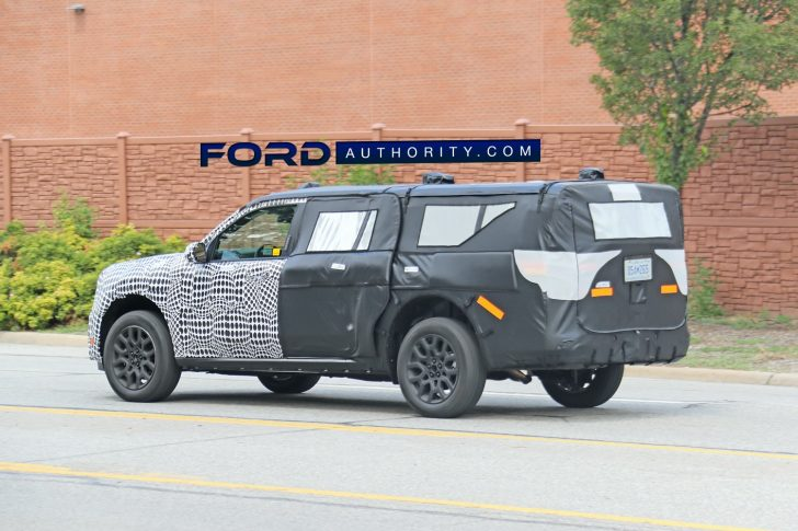 A Ford Maverick prototype disguised to look like an SUV