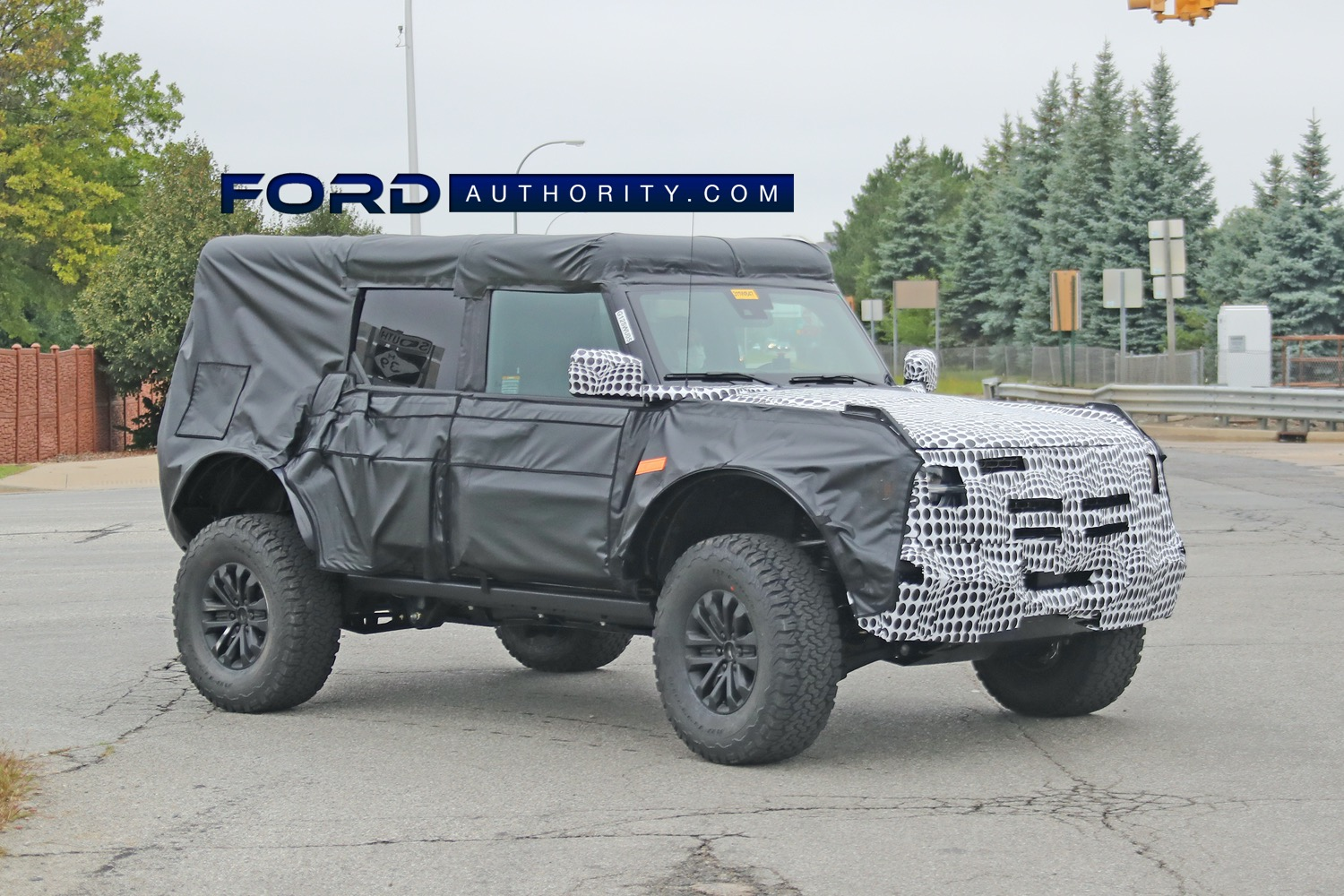 """The upcoming Bronco Raptor, pictured here in prototype form, could be named """"Bronco Warthog""""."""
