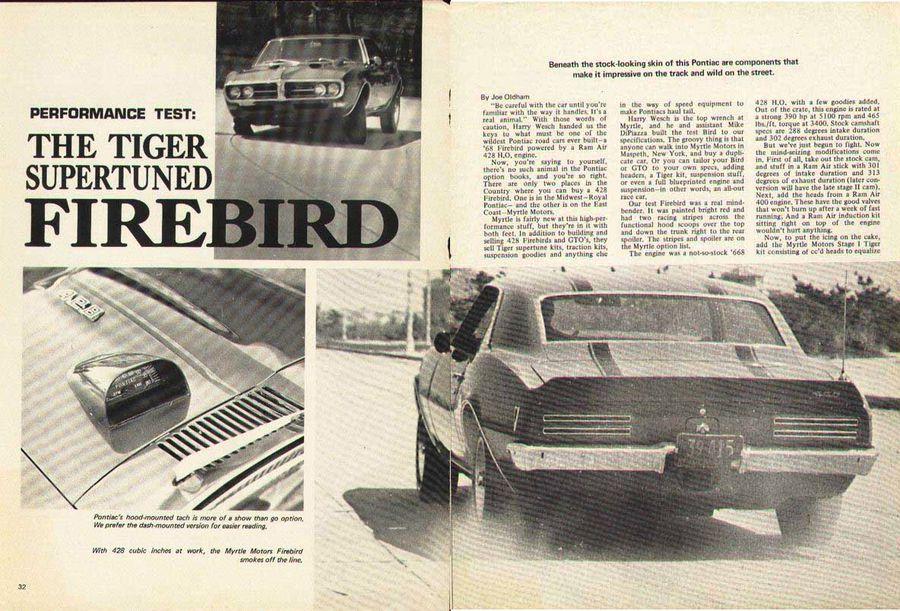 Popular Hot Rodding's test of the Myrtle Motors Firebird.