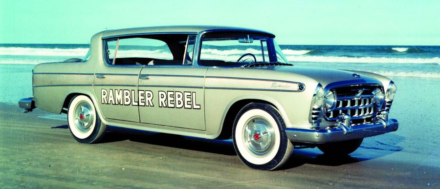 The fabulous 1957 Rambler Rebel was a limited-production, high-performance hardtop sedan powered by an AMC-designed, 327-cu.in. V-8 producing 255 hp. Rebel was the fastest American sedan in 1957.