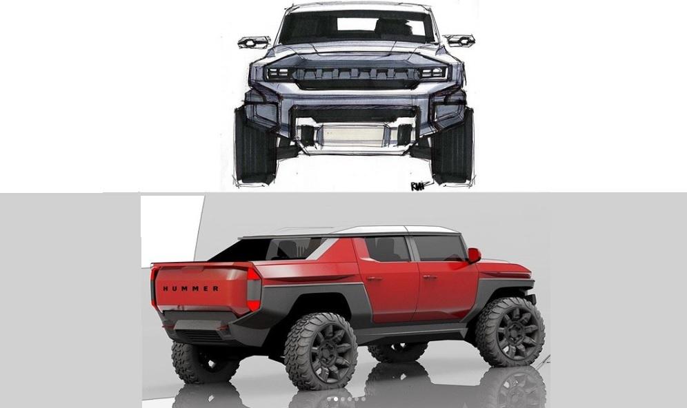 2022 GMC Hummer design sketches