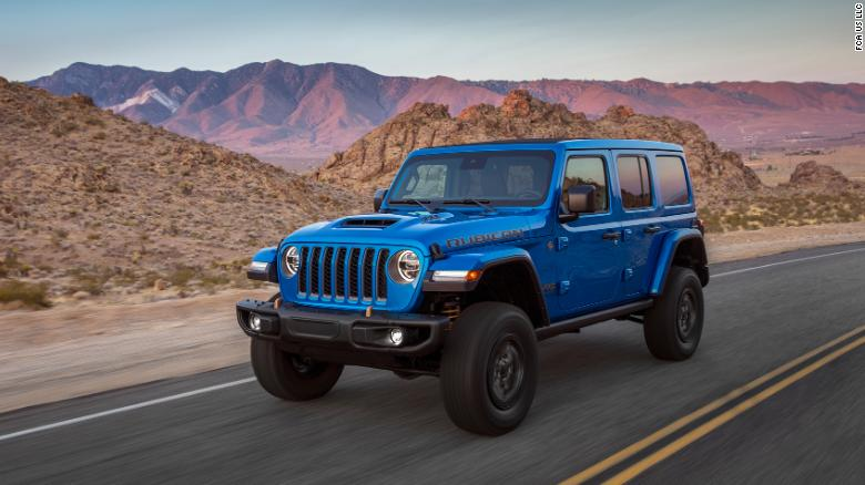 The Jeep Wrangler Rubicon 392 is an inch higher than a standard Jeep Wrangler Rubicon and two inches higher than the base model.
